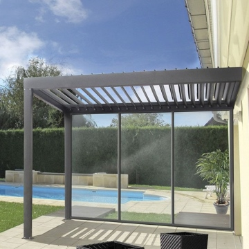 Motorized Outdoor Cover Gazebo Louvered Opening Louver Roof System For Pergola Aluminium Garden