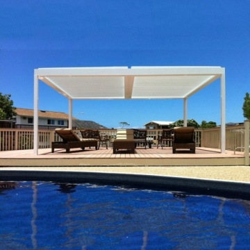 waterproof automatic aluminum patio covers pergola