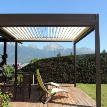 3x6 aluminum electric pergola with lights