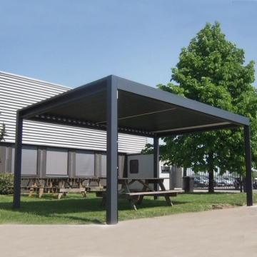 Motorized Pergola Aluminum Outdoor Aluminium Patio Roofs With Louvre