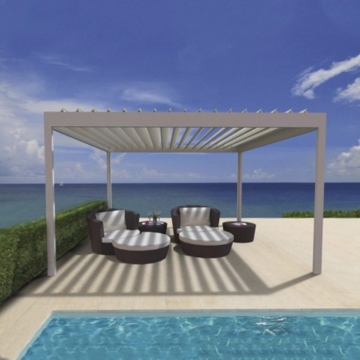 White color aluminum pergola electric marquee outdoor furniture