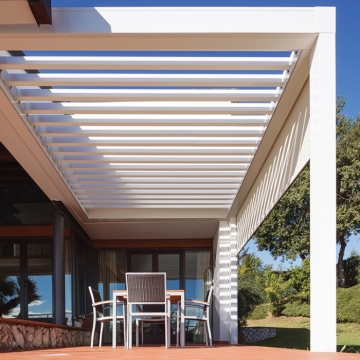 Self Supporting Rain Protection Pergola Roof System For Outdoor Living
