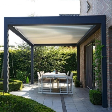 Bioclimated garden motorized adjustable aluminum louver roof pergola