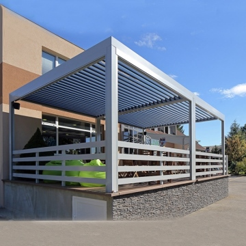 Sun Shade and Waterproof Pergola Awning System