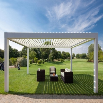 Motorised aluminium louvered patio covers pergola designs for garden