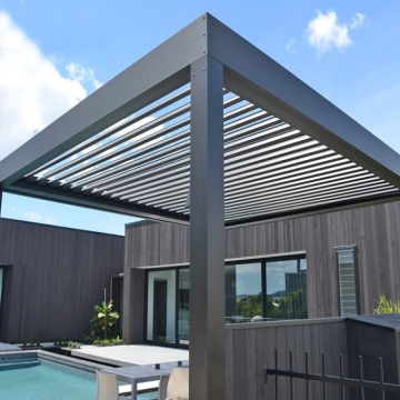 Remote control motorized aluminium louvered pergola covers systems