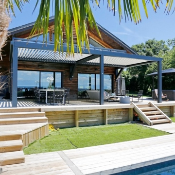 Garden patio roof waterproof aluminum louver roof pergola price