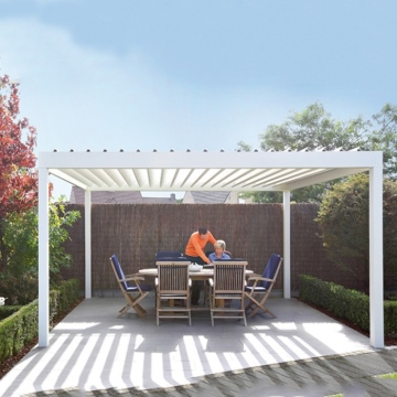 Easily assembled motorised garden aluminum pergola cover design for swimming pool
