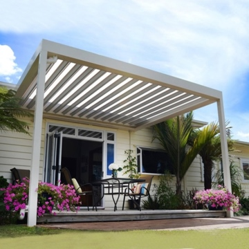 Waterproof louver roof system outdoor garden pergola with remote control