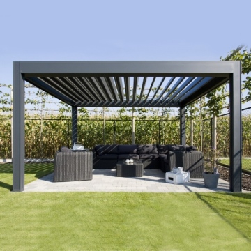 Fully automatic waterproof outdoor pergola with remote control system