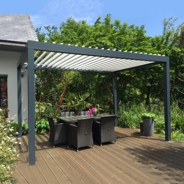 Good Price Sunshine Water Resistance Aluminum Patio Louver Roof Pergulas From China