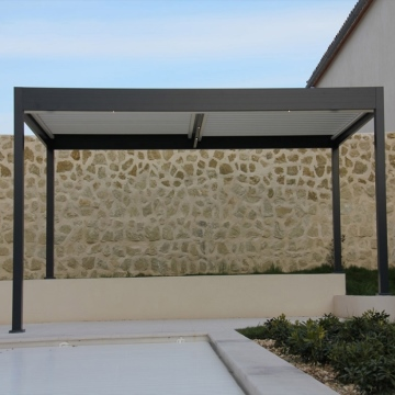 Outdoor Retractable awning roof for pergola sunshade