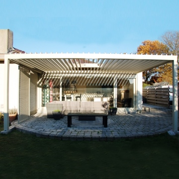 Easy install low price heat insulation good quality waterproof aluminum pergola 3x3