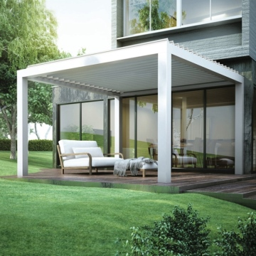 Garden outdoor aluminium pergola with Open Louver roof