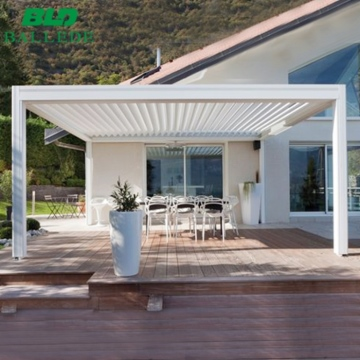 Electric Sunshade Roof Automation Gazebo Outdoor Waterproof Louvered Pergola