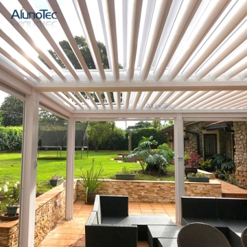 Garden decorations patio waterproof louvered roof aluminum pergola manufacturers