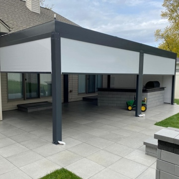 Freestanding aluminium waterproof motorized louvre pergola outdoor