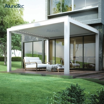 Bioclimatic Ceiling Motorized Pergola System With Adjustable Blades