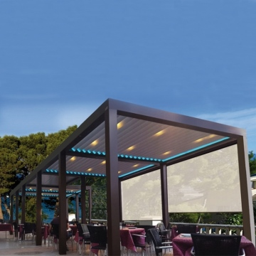 DIY Waterproof outdoor roof covers trellis pergola bioclimatic aluminium