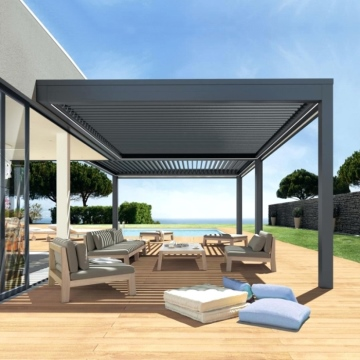 Terrace roof gazebo outdoor aluminium waterproof louvre patio covers pergola shade