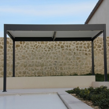 Automatic bioclimatic pergola roof patio cover canopy