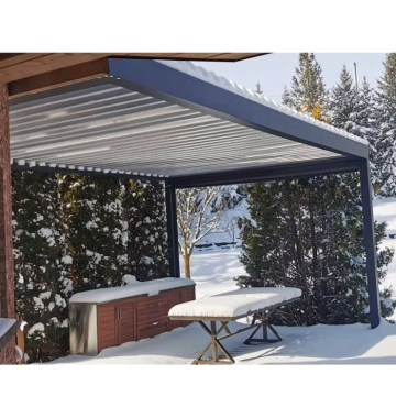 Aluminum sunshade louver bioclimatic electric pergola roof awning