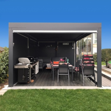 Eco-friendly Free Standing Aluminium Alloy Louvered Roof Pergola Kits
