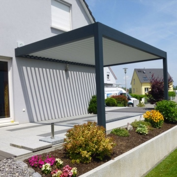 Remote control switch electric gazebo garden pergola roof aluminum 4x3