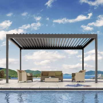 Garden buildings motorized gazebo pergola awnings waterproof