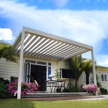 Outdoor Louvered Roof Pergola Electric Aluminum Frame Sun Shade Pergola Kit