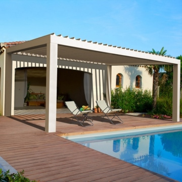 Electric opening closing louvre roof aluminium profile pergola bioclimatica prices