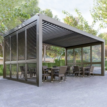 Modern automatic louvered roof waterproof patio aluminium pergola