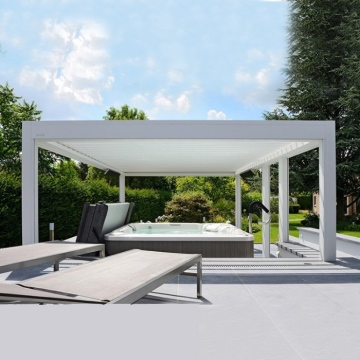 Customized outdoor louvered roof waterproof motorized aluminum pergola