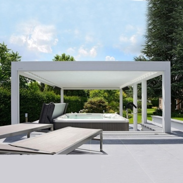 Luxury louver roof bioclimatic terrace roof aluminium gazebo pergola cover