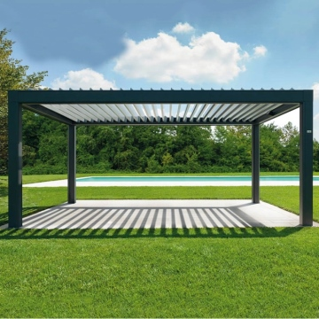 Easily Assembled Bio-climatic Motorised Aluminum Ceiling Pergola System