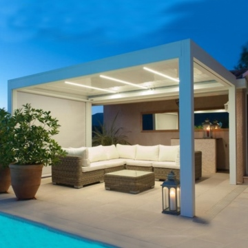Luxury Motorised Awnings for Retractable Roof With Skydome Design