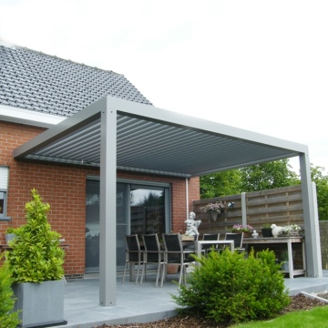 High Quality Bioclimated Motorized Aluminum Pergola with adjustable louvers