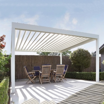 Outdoor Waterproof Aluminum Garden Retractable Bioclimatic Pergola Cover