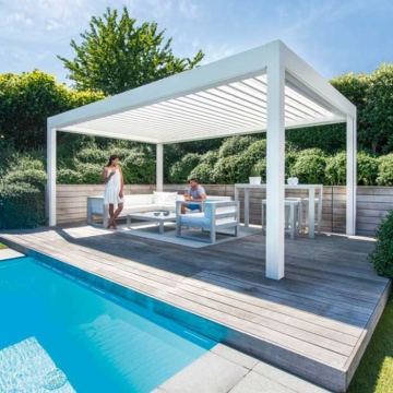 High quality  trade assurance gazebo outdoor metal roof pergola pool arbour kits