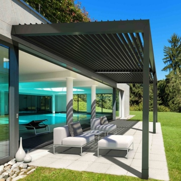 Waterproof Aluminum Pergola Covers with Louvre Blades