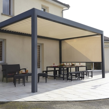Excellent drainage Outdoor Metal Gazebo With Louver Adjustable pergola