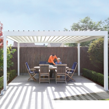 Louvered roof carport gazebo aluminium outdoor garden pergola  kits