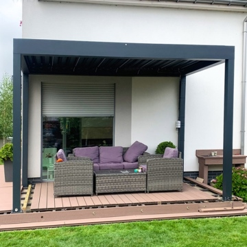Modern Garden Custom Windproof and rainproof  Bioclimatic PVC Pergola