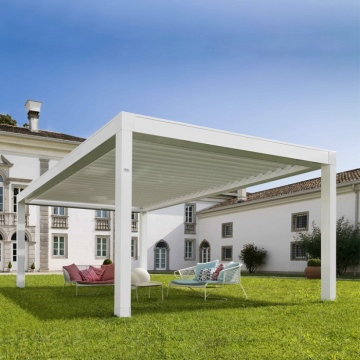 Custom Size Bioclimatic Outdoor Retractable PVC Pergola