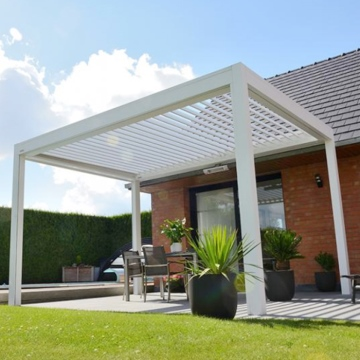 Foshan factory direct supply metal pergola waterproof pergola canopy aluminium pergola outdoor