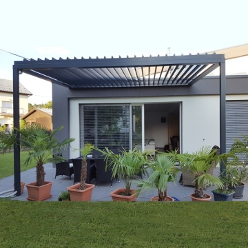 Decorative material modern metal pergola aluminum pergola retractable roof pergola