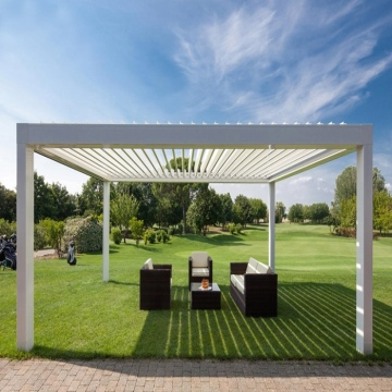 New arrival outdoor aluminum pergola gazebo with retractable sun metal pergola