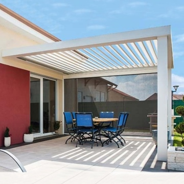 China High Quality Automatic Waterproof Retractable Pergola Roof Patio Canopy Awning for Barbecue