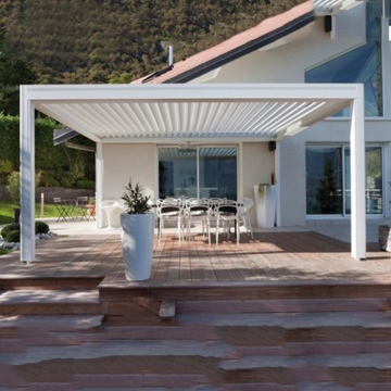 Outdoor Louver Roof Garden Aluminum Metal polycarbonate Pergola garden with roof