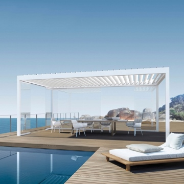 Deck Gazebo Outdoor Aluminium Pergola Cover Motorized
